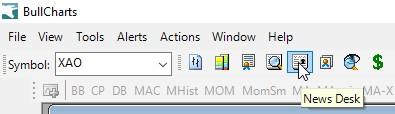 News Desk toolbar button