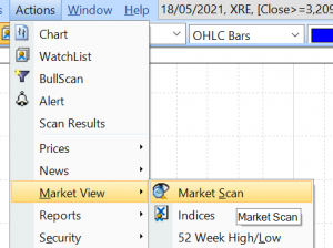How to access the Market Scan
